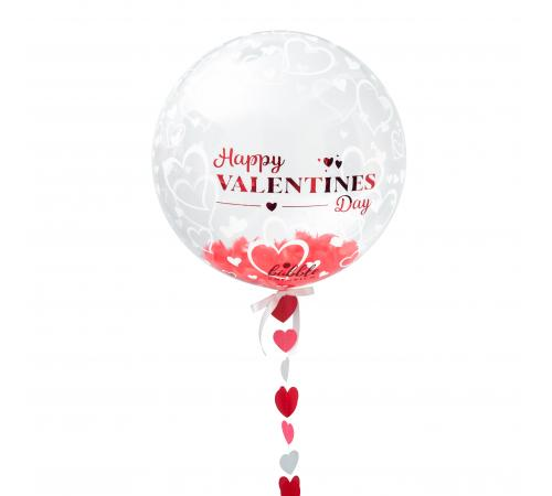 Valentines Day Bubble with Hearts Tail image