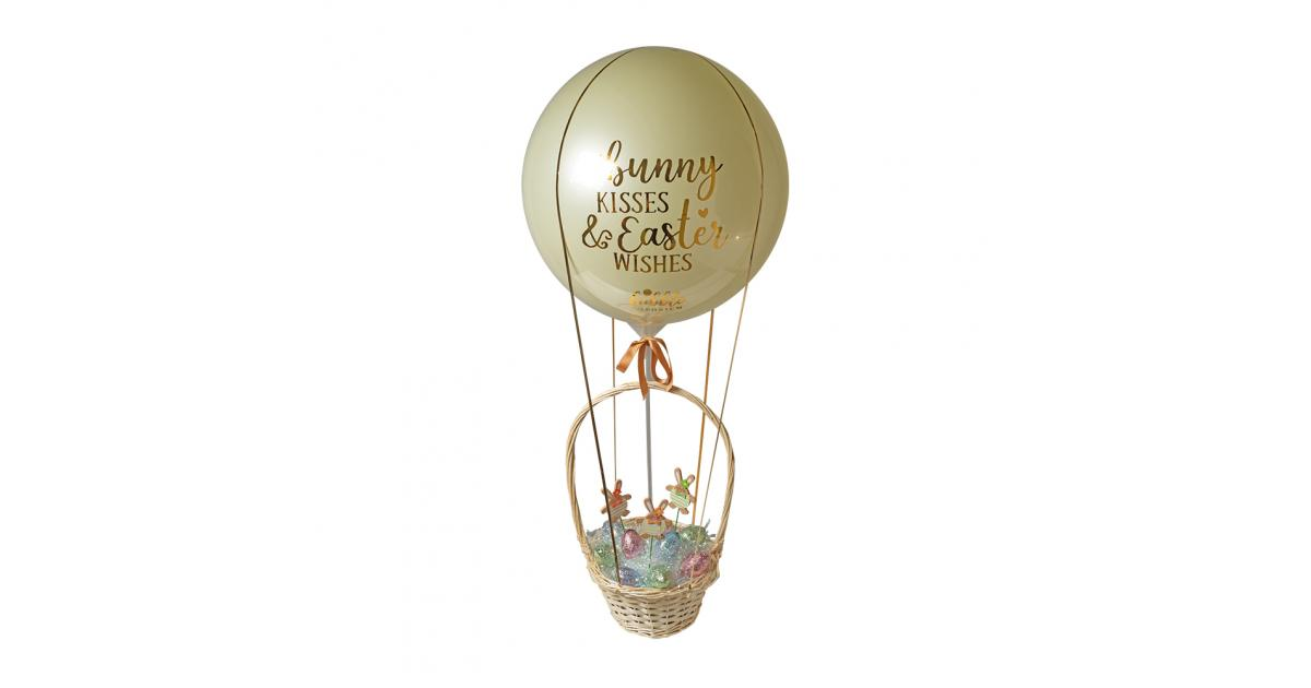 Bunny Kisses And Easter Wishes Luxury Hot Air Balloon Basket