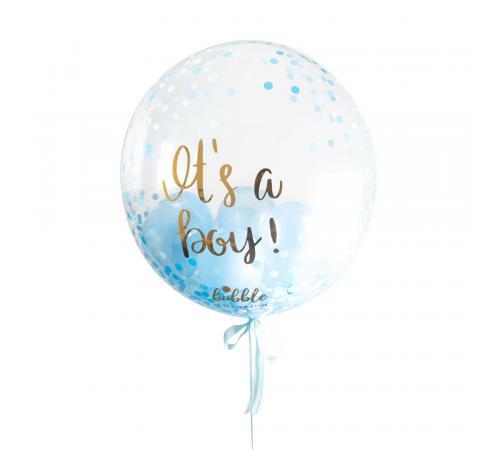 It's A Boy Confetti Dots Bubble image